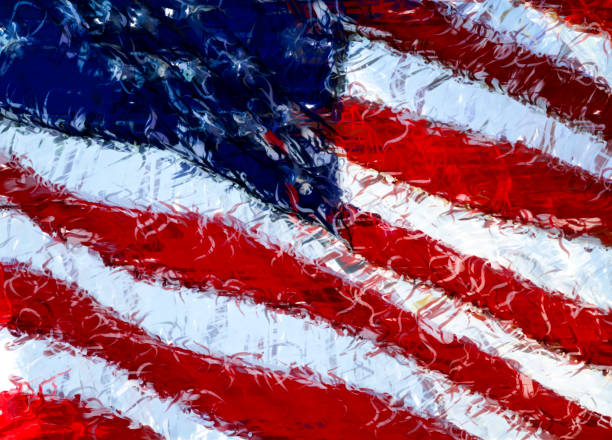 Royalty Free American Flag Waving In The Wind Drawing Pictures