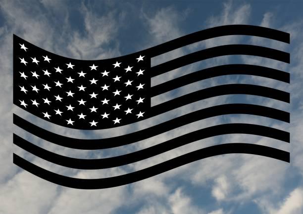 Amerikanische Flagge in schwarz / weiß – Foto