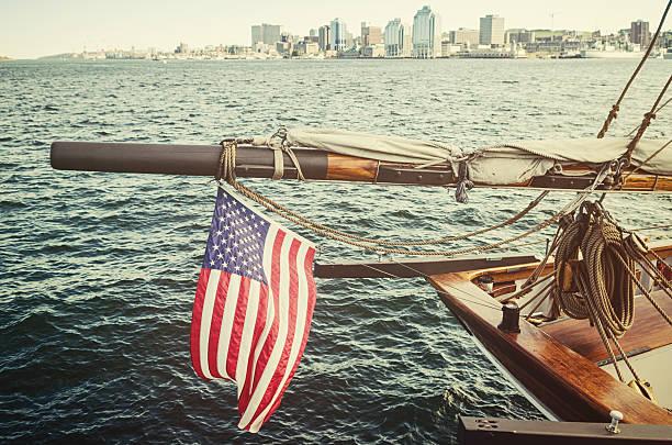 American Flag in Halifax stock photo