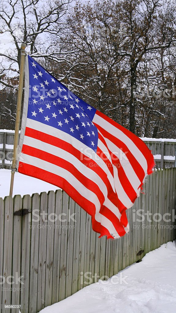 American flag in Indiana, USA royalty-free stock photo