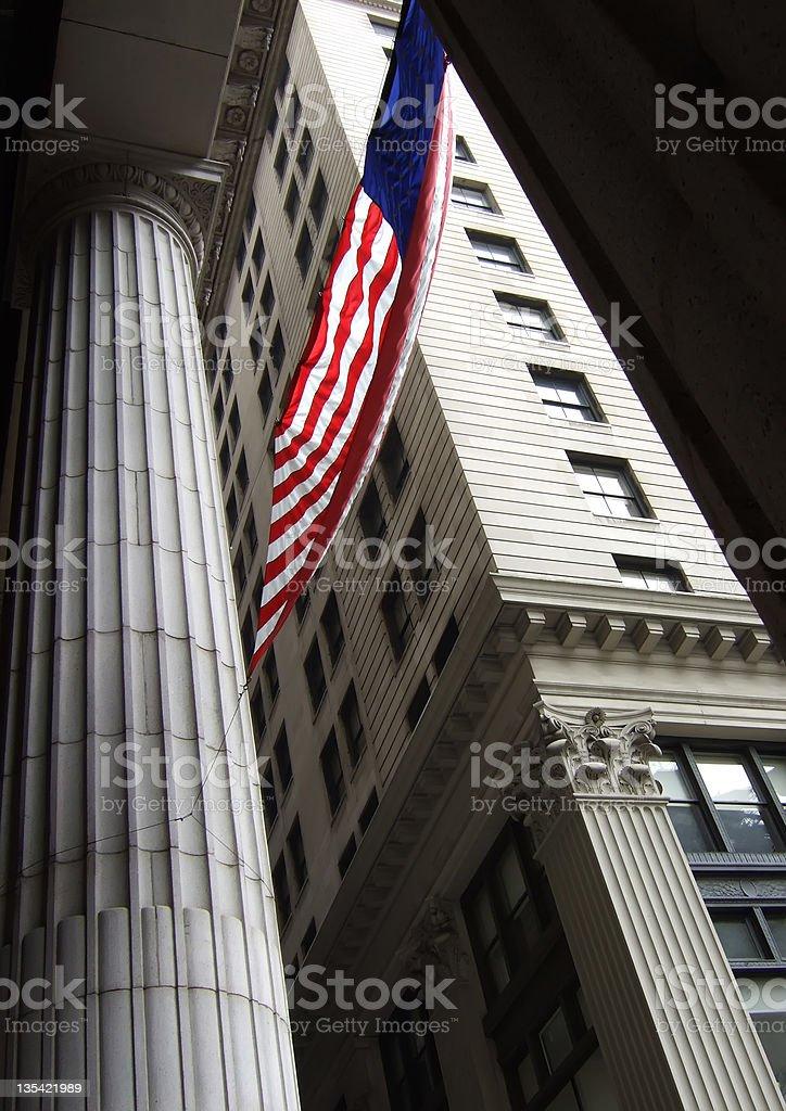 American Flag in Philadelphia stock photo