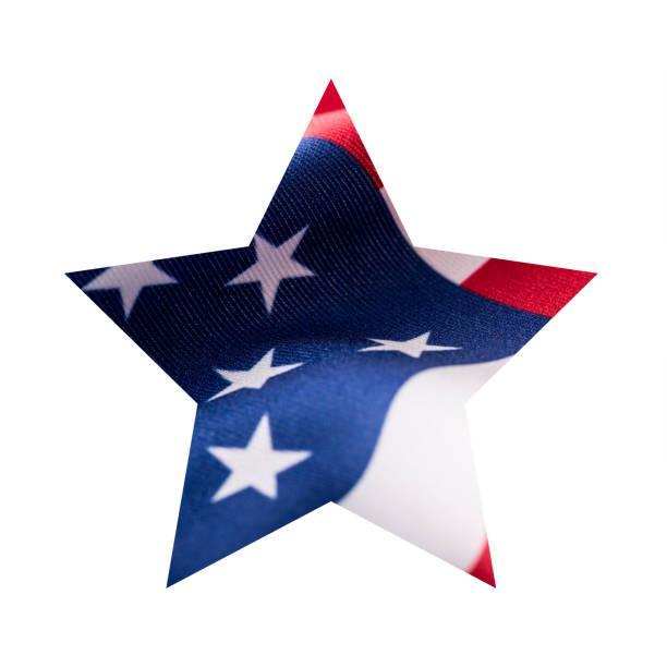 american flag in star shape isolated on white background. - happy 4th of july zdjęcia i obrazy z banku zdjęć