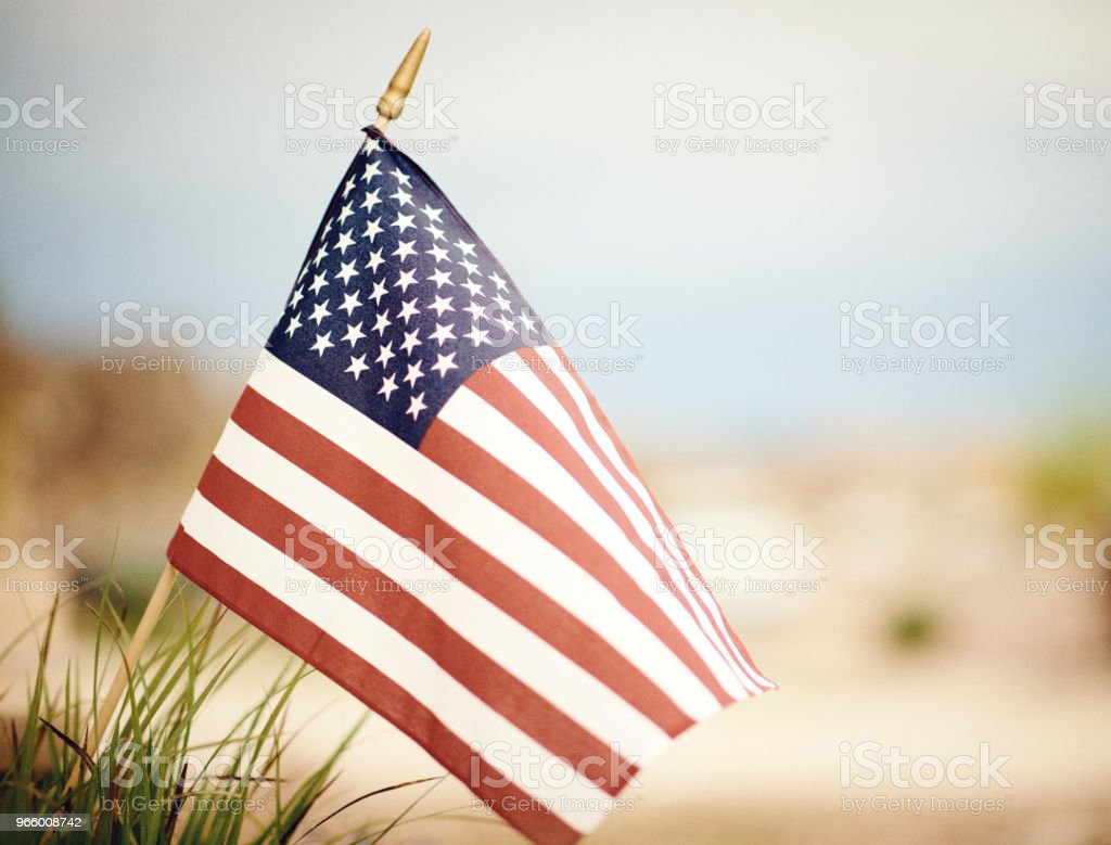 American flag in summer sunshine - Royalty-free American Culture Stock Photo