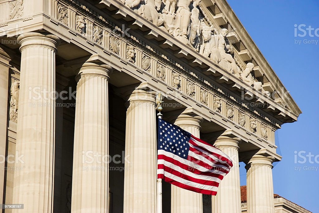 American Flag in Washington, D.C. royalty-free stock photo