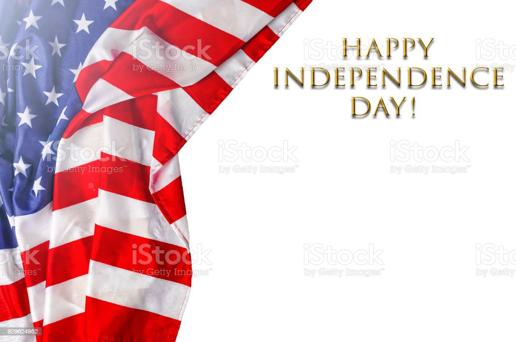 American flag and Independence Day. . Flag of the United States on...