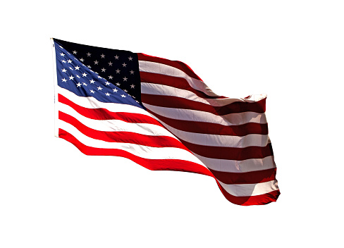 American Flag Isolated İmage