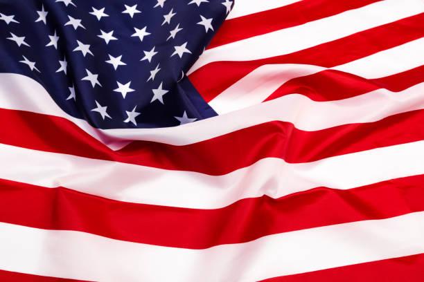 american flag isolated on white background - image - fourth of july zdjęcia i obrazy z banku zdjęć