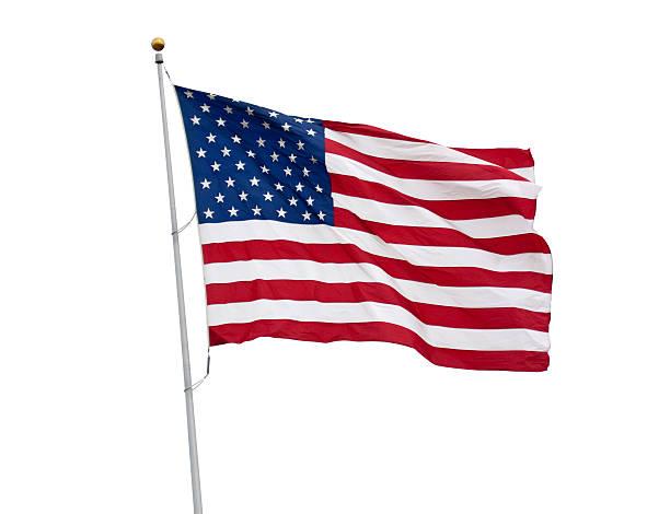 칠레식 플랙 흰색 바탕에 그림자와 함께 클리핑 경로를 - us flag 뉴스 사진 이미지