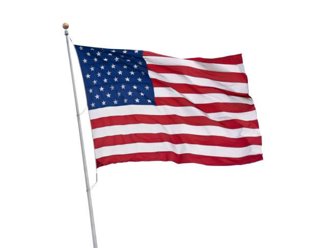 Amerikanische Flagge isoliert – Foto