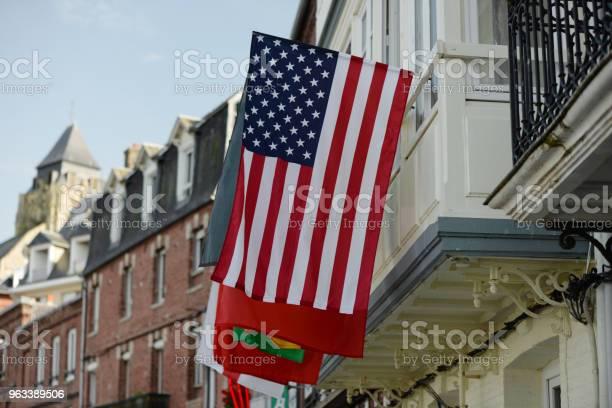 Amerykańska Flaga Normandia - zdjęcia stockowe i więcej obrazów 1944