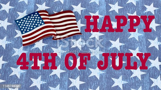 istock American flag on a patriotic background 1145746002