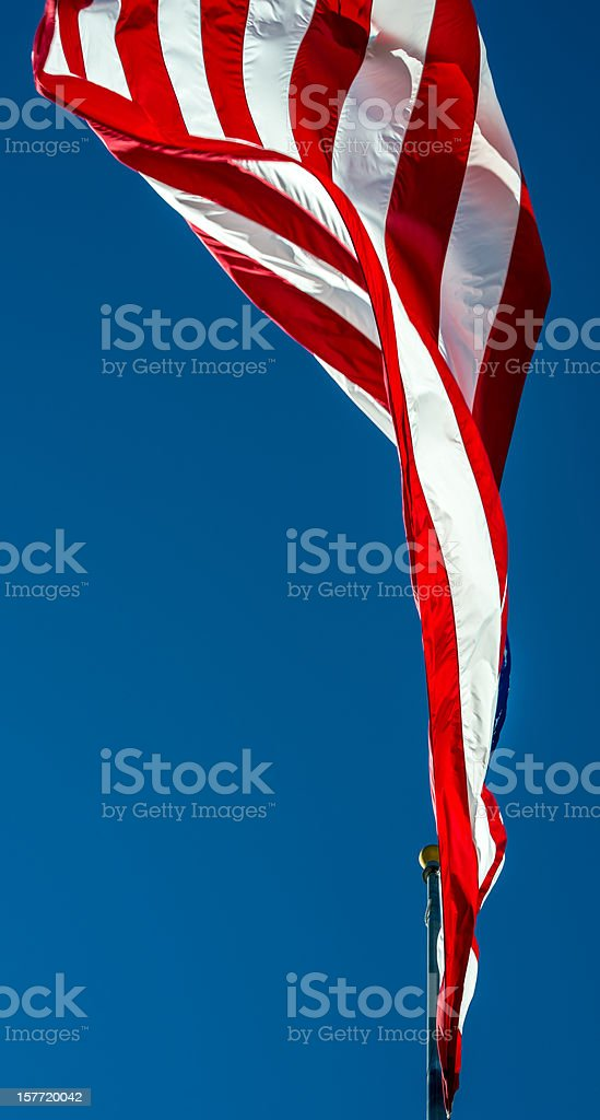 American Flag on a Pole royalty-free stock photo