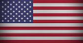 American flag on aluminum wall