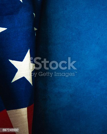 612818918 istock photo American flag on chalkboard for US holidays 597245532