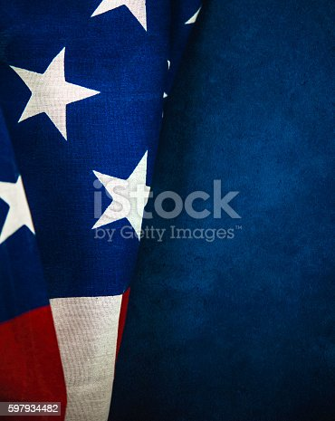 612818918 istock photo American flag on chalkboard for US holidays 597934482