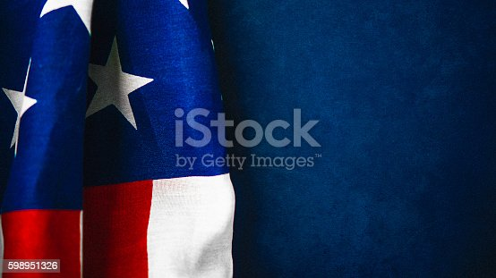 612818918 istock photo American flag on chalkboard for US holidays 598951326