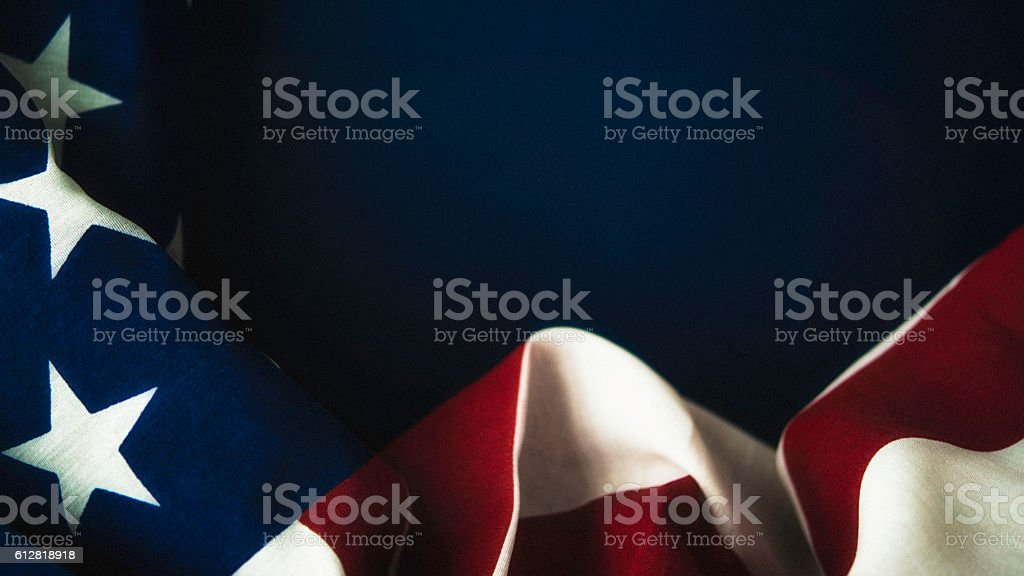 American flag on chalkboard for US holidays - foto de stock