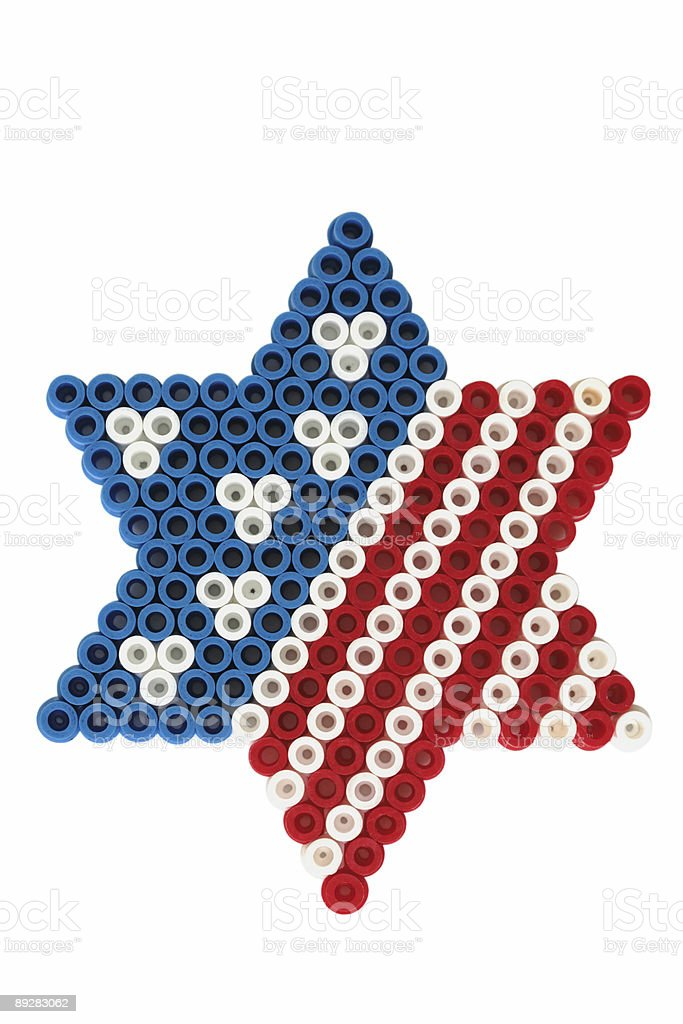 American flag on David star royalty-free stock photo