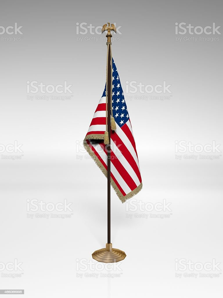 American Flag on stand stock photo