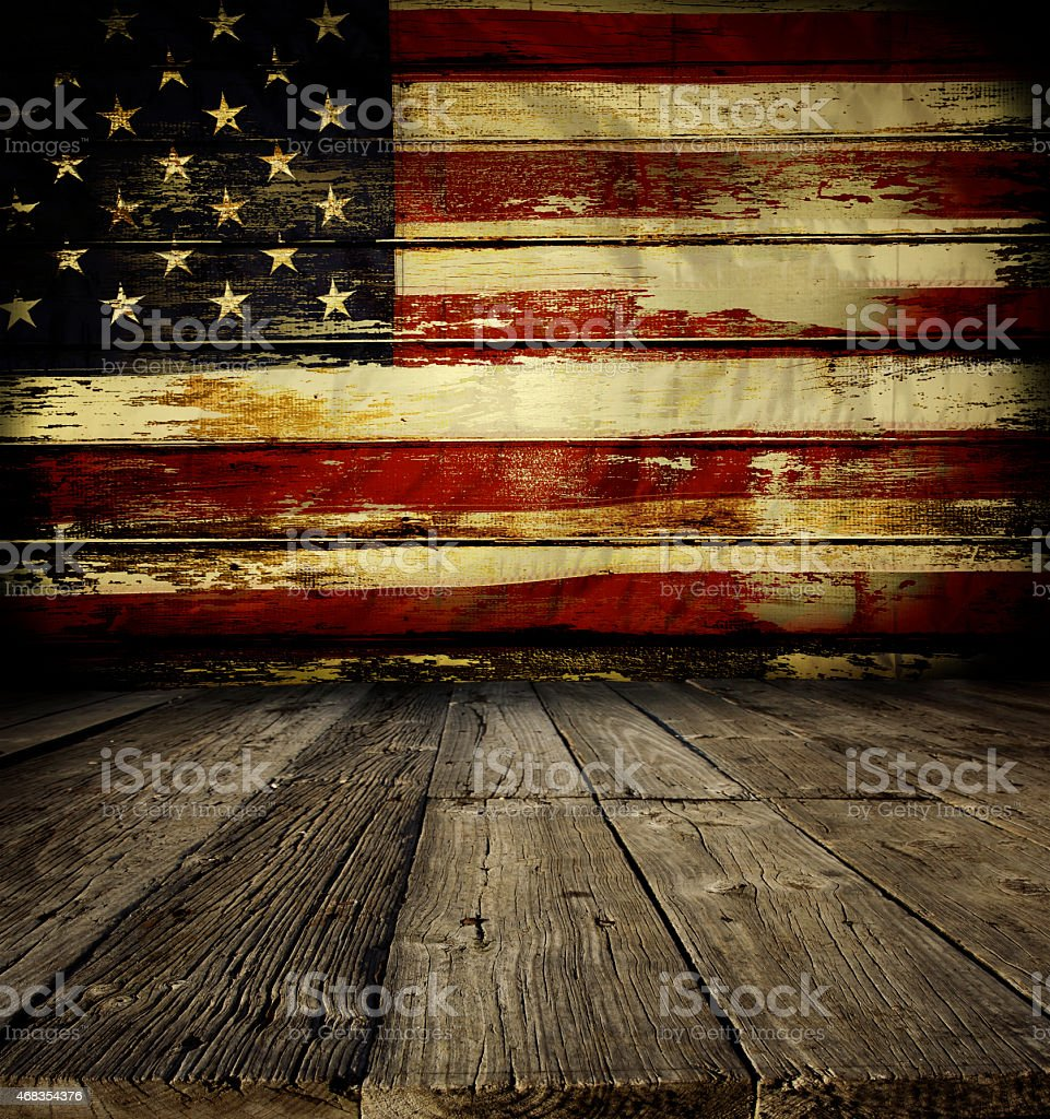 American flag on wall royalty-free stock photo
