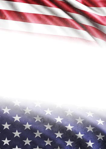 182764873 istock photo American Flag on White Background 513253006