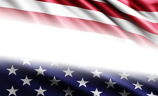 182764873 istock photo American Flag on White Background 528906958