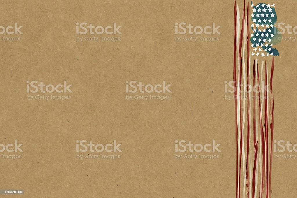 American Flag paper stock photo