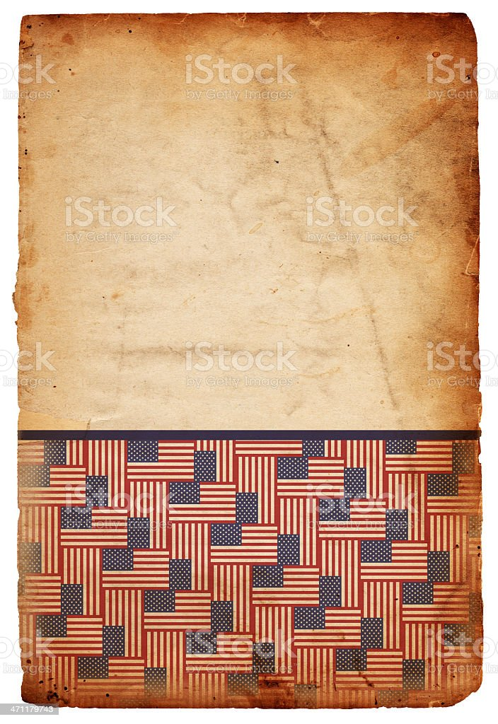 American Flag Patterned Grunge Paper XXXL royalty-free stock photo