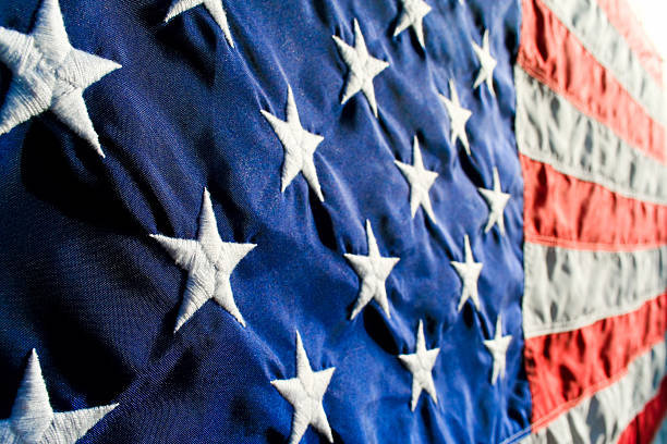 american flag - national anthem stock photos and pictures