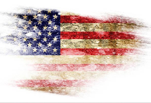 american flag - slechte staat stockfoto's en -beelden
