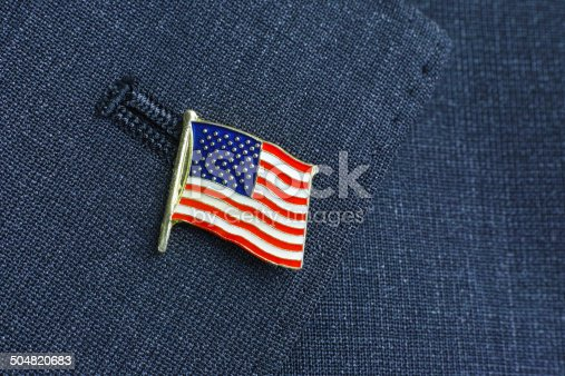 The badge of the American flag