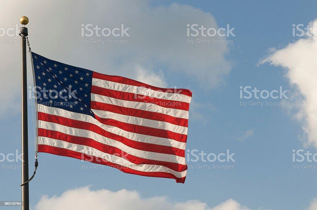 복사 공간이 미국 플래깅 royalty-free 스톡 사진