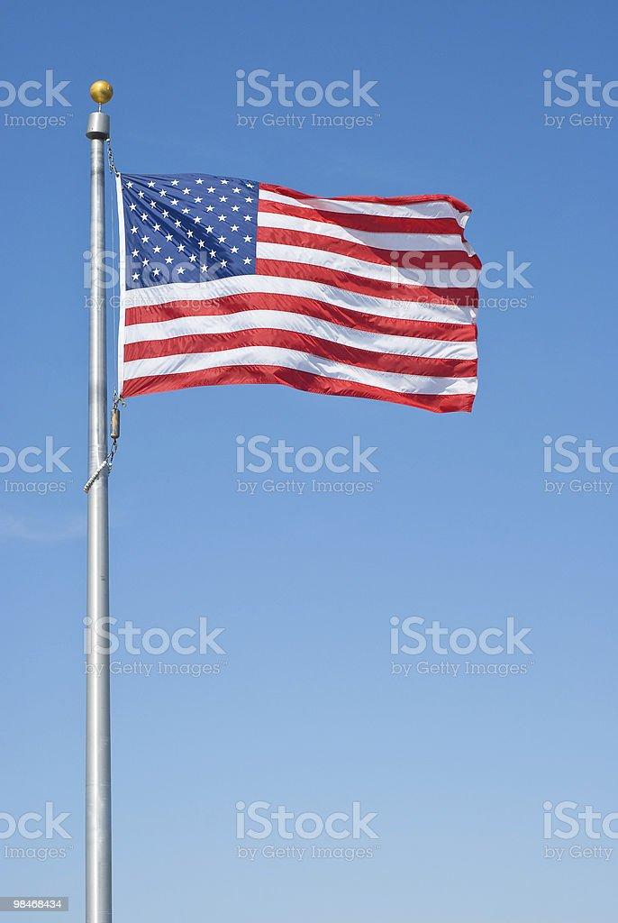 Bandiera americana foto stock royalty-free
