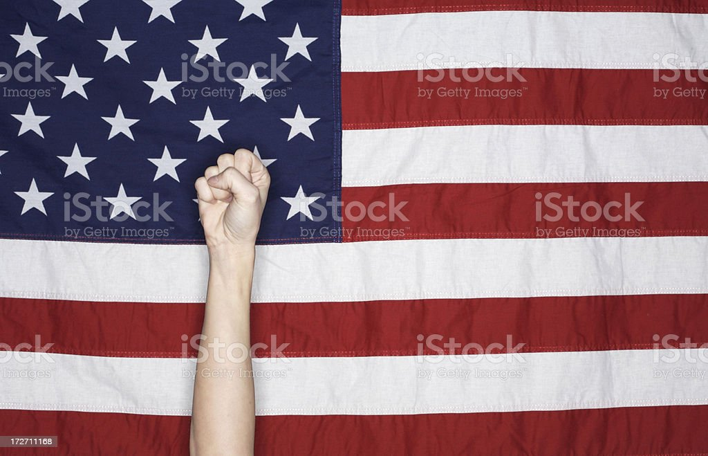 American Flag - Resistance Fist royalty-free stock photo