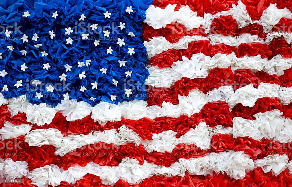 American Flag Ribbons stock photo