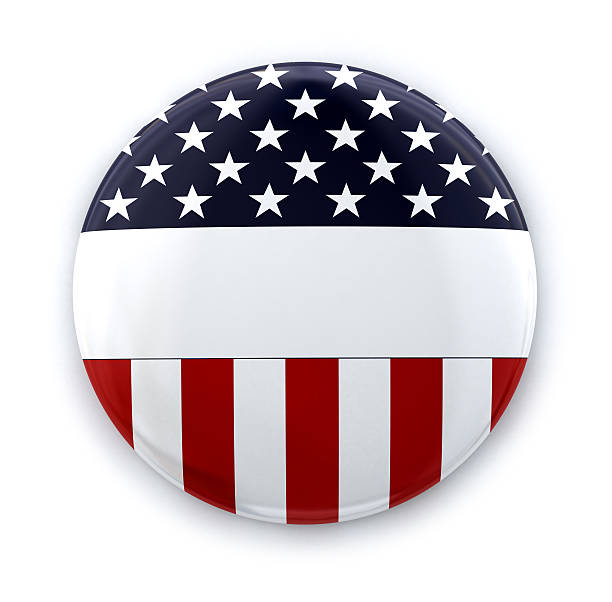 usa tarjeta de - botón de campaña política fotografías e imágenes de stock