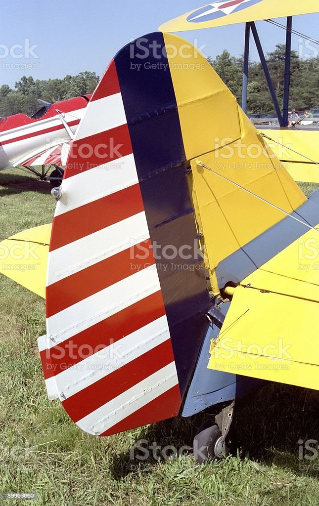 American Flag Rudder royalty-free stock photo