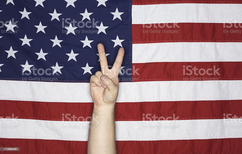 American Flag - Second Place royalty-free stock photo