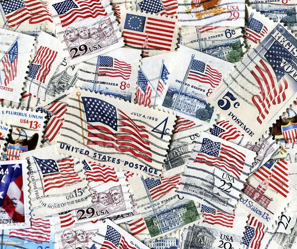 American Flag Stamps XXXL stock photo