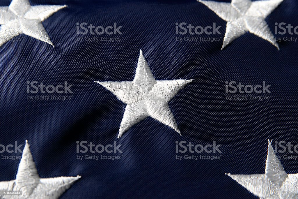 American Flag Star Close Up royalty-free stock photo