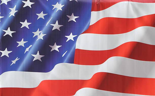 bandiera americana stelle e strisce - sventolare la mano foto e immagini stock