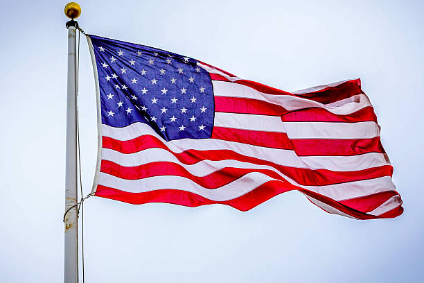 american flag- stars and stripes - national anthem stock photos and pictures