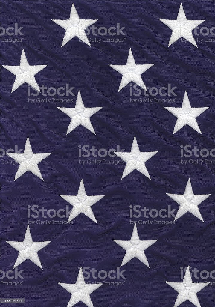 American flag - stars royalty-free stock photo