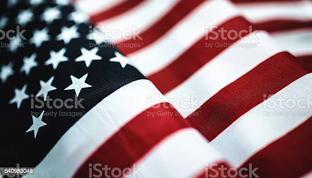 American Flag Textile Close Up Stock Photo - Download Image Now