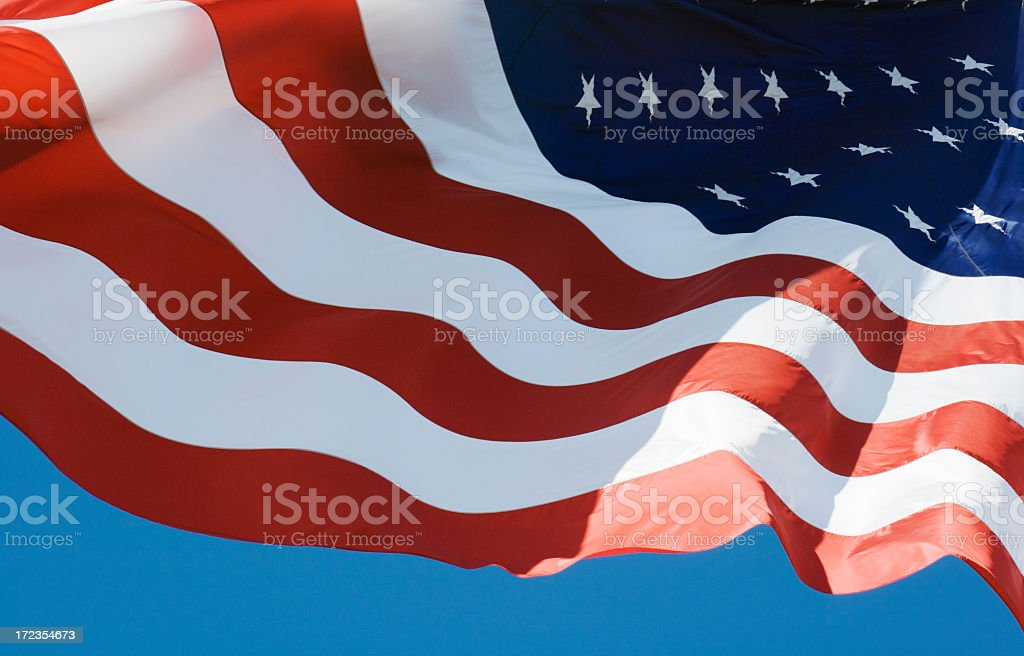 American Flag, United States of America National Banner Rippling, Waving royalty-free stock photo