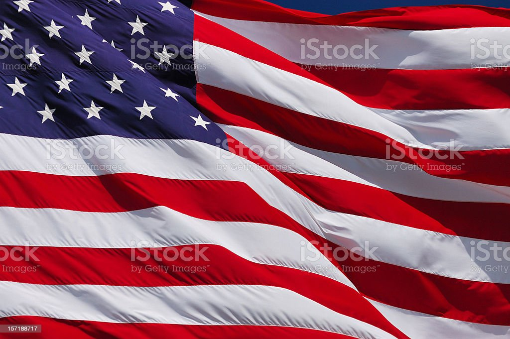 American Flag Up Close royalty-free stock photo
