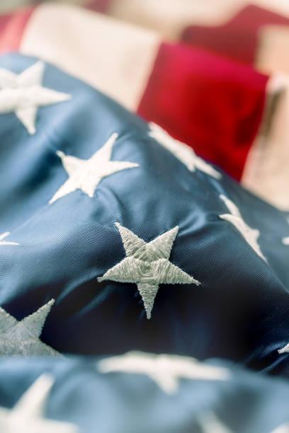 american flag. usa flag. abstract perspective background of stripes and strars with american symbol -  flag - fourth of july zdjęcia i obrazy z banku zdjęć