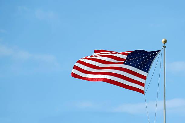 Bandeira norte-americana - foto de acervo