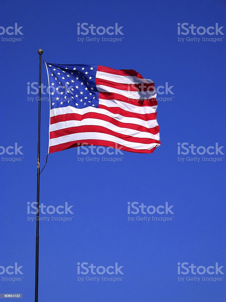 American Flag - USA royalty-free stock photo