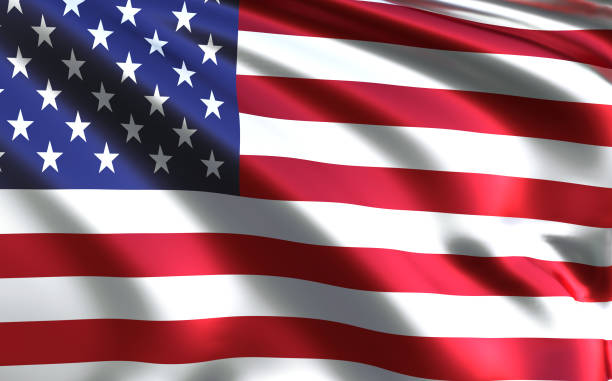 American flag - USA - United States of America stock photo